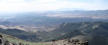 View east from Steens Loop Road toward Little Blitzen Gorge